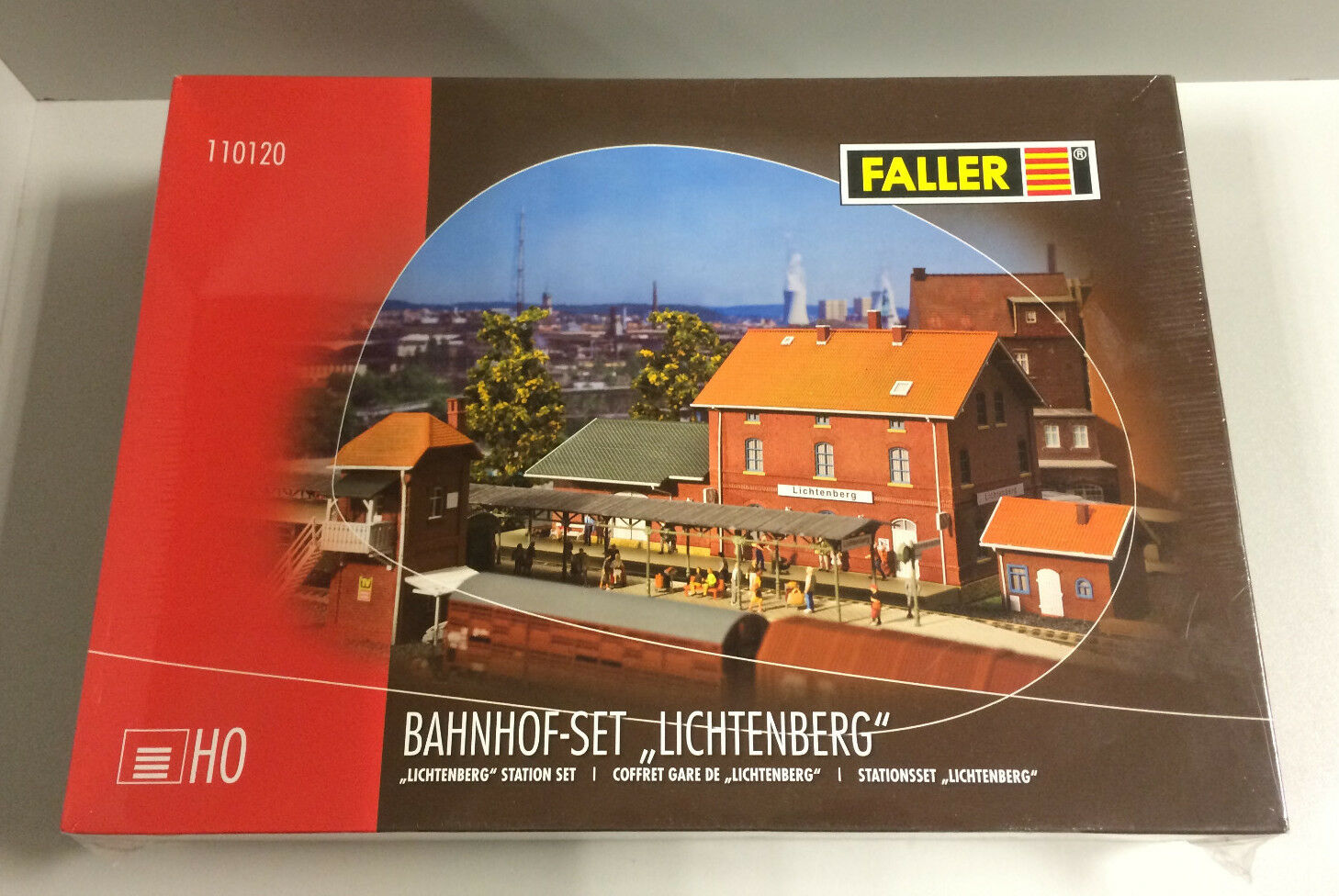 Faller 110120, h0, STAZIONE FERROVIARIA-Set Lichtenberg, KIT NUOVO IN SCATOLA ORIGINALE