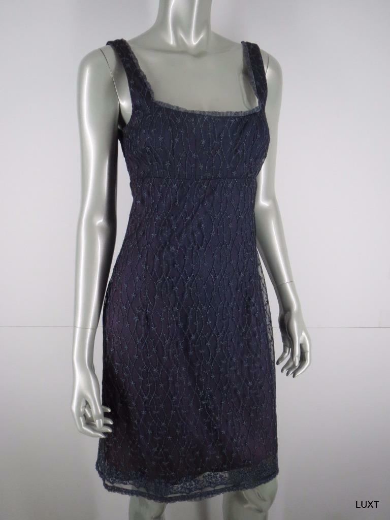 Nanette Lepore Dress Cocktail Party Evening Sz 6 S lila Embroiderot Sleeveless