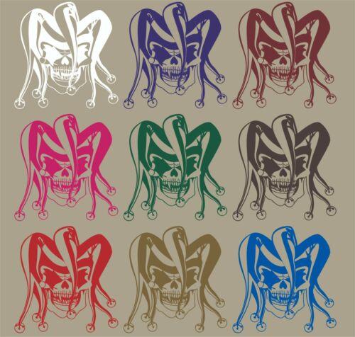 Clown Evil Jester Joker Skull Car Truck Window Laptop Vinyl Decal Sticker