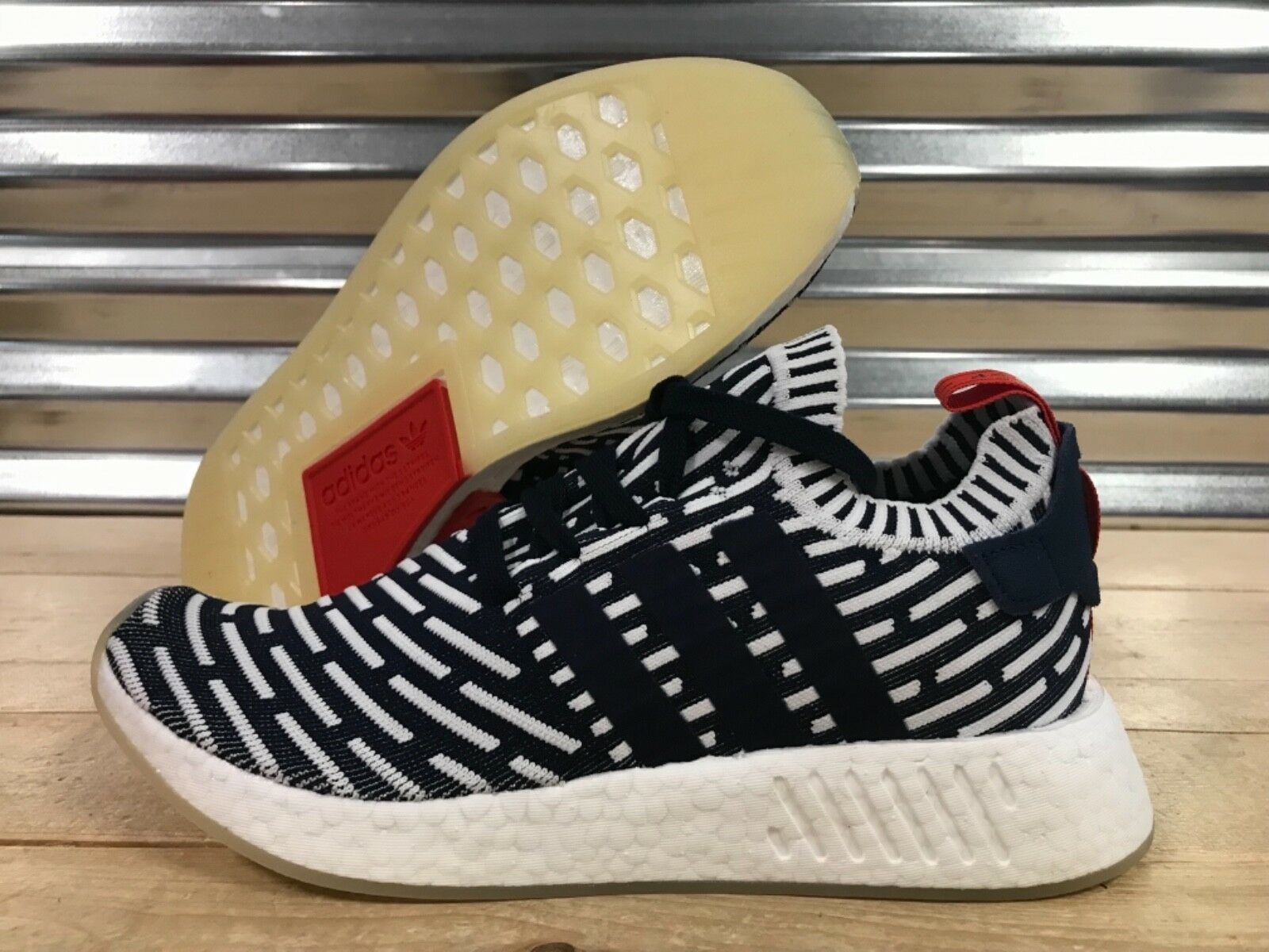 6bf6991d0 Adidas Adidas Adidas NMD R2 Primeknit Roni Running shoes Collegiate Navy  White SZ ( BB2909 )