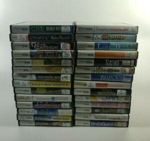 Nintendo DS U Pick Games Choose Complete Fun Rare Family Action Puzzle