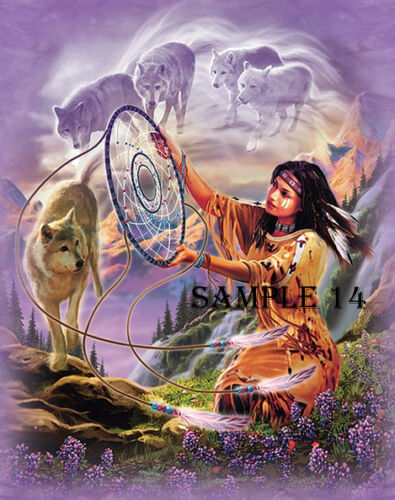 Native American Indian Iron On Transfer for light fabrics REF 02-11