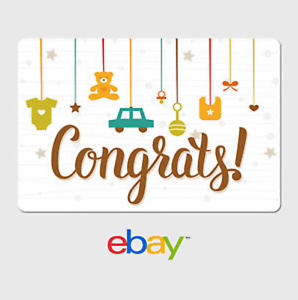 image is loading ebay digital gift card congrats new baby email - Baby Gift Card