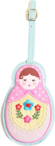 Cute BABUSCHKA Russian Doll Kofferanhänger Gepäckanhänger