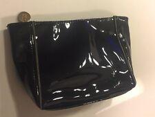 Yves Saint Laurent Ysl Beaute Beauty patent black cosmetic Bag Makeup Case small