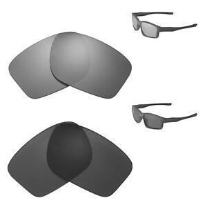 29fd5616256 Image is loading Walleva-Black-Titanium-Polarized-Replacement-Lenses-For- Oakley-