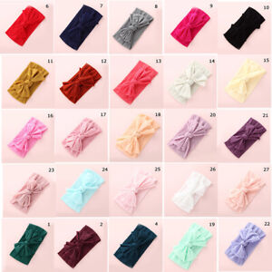 Baby-Girls-Kids-Toddler-Bow-Hairband-Bandeau-Extensible-Turban-Knot-Head-Wrap