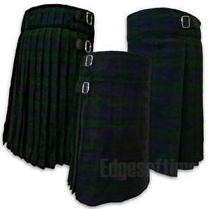 SCOTTISH-BLACK-WATCH-TARTAN-KILT-HIGHLAND-TRADITIONAL-DRESS-FROM-26-034-TO-48-034