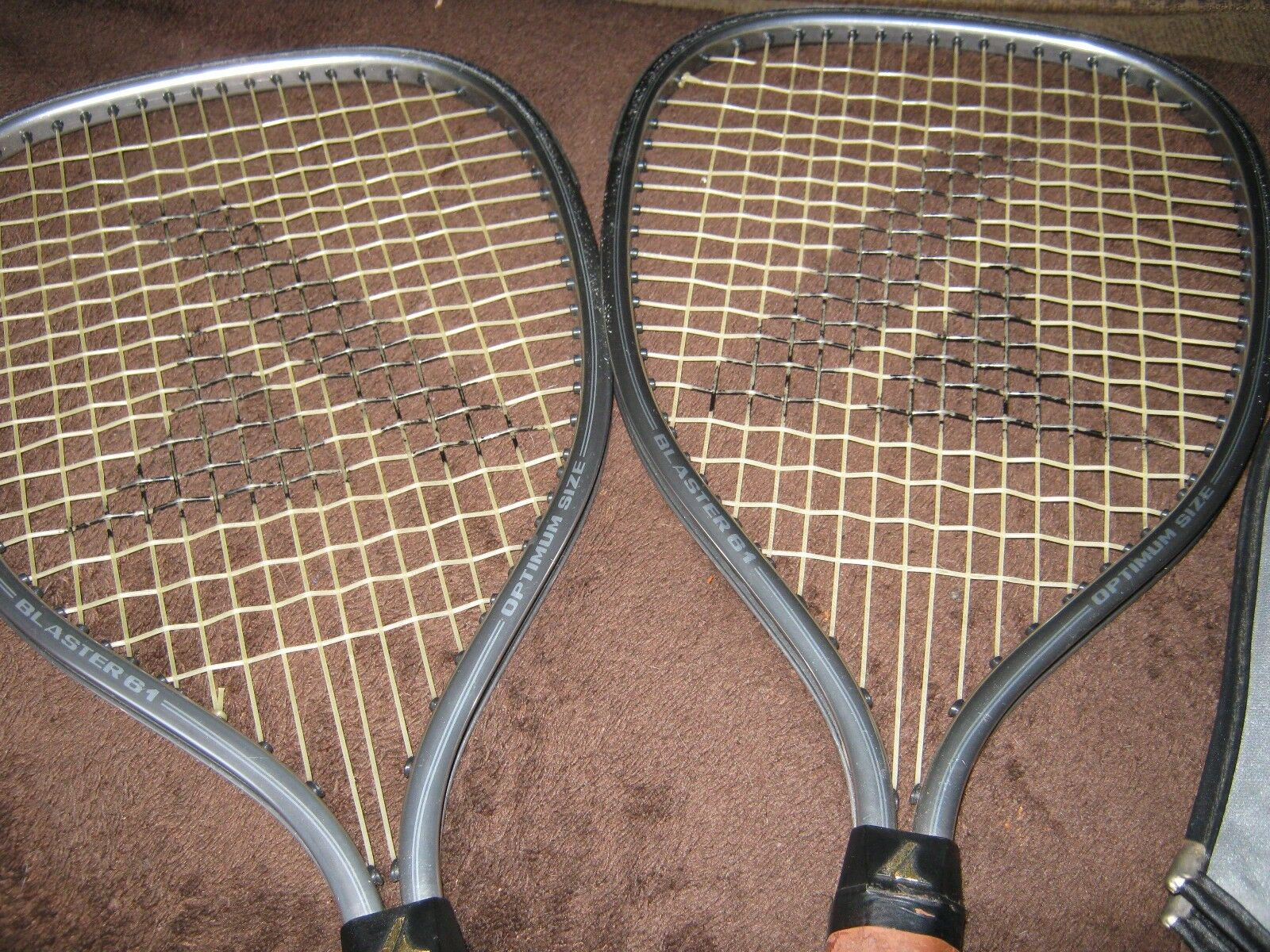 (2) Pro Kennex Racquets Blaster 61- 3 7 8 grip w Covers-FREE SHIPPING