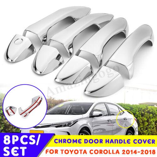 1 Set Chrome Door Handle Cover Trim For Toyota Corolla 2014 2015 2016 2017 2018