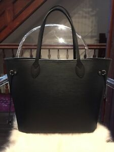 20c996417 Image is loading Louis-Vuitton-Neverfull-MM-Epi-Leather-Black-Noir