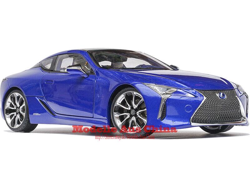 1 18 Lexus 2018 LC500h Bleu Naturel Métallisé Édition Distributeur