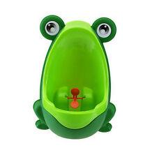 Kinder Baby Töpfchen Toilettentrainer Lerntöpfchen Pee Urinal Badezimmer Grün