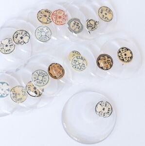 TASCHENUHRGLAS-034-BULLSEYE-034-Glas-Uhrglas-D-266-400-Taschenuhr-pocket-watch-glass