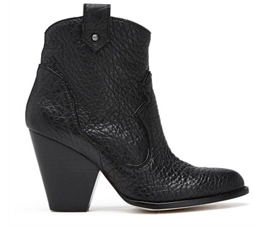 Mimco Brand New $299 Leather Boots Wedges Shoes 36.5 Or 5.5