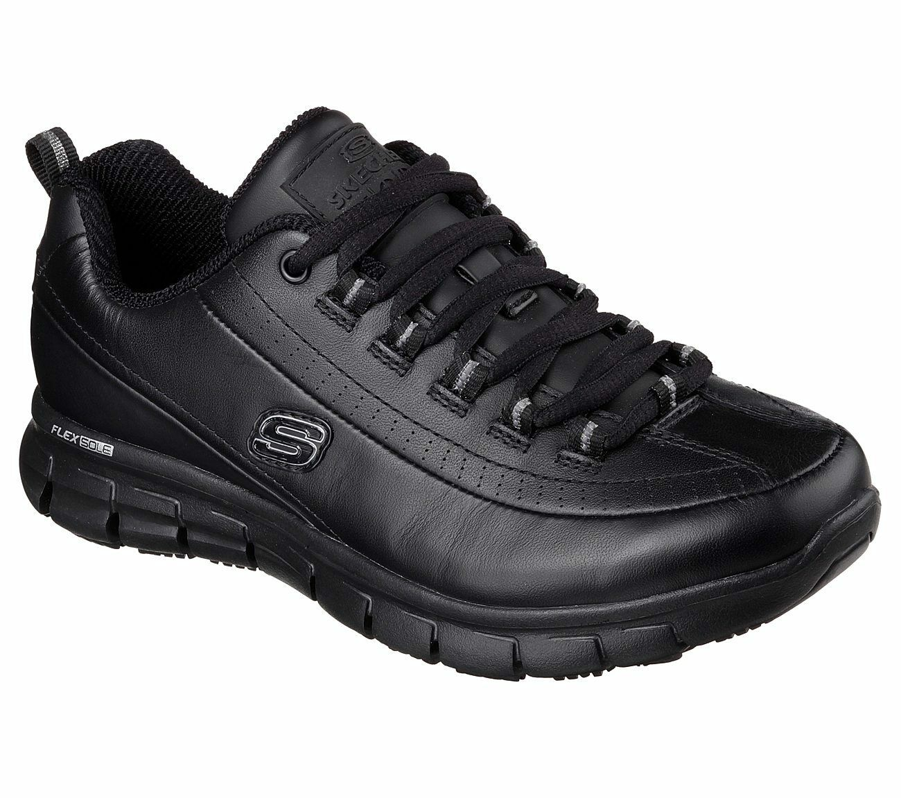 76550 Skechers Women's Work: Sure Track-Trickel Slip Resistant Memory Foam Black