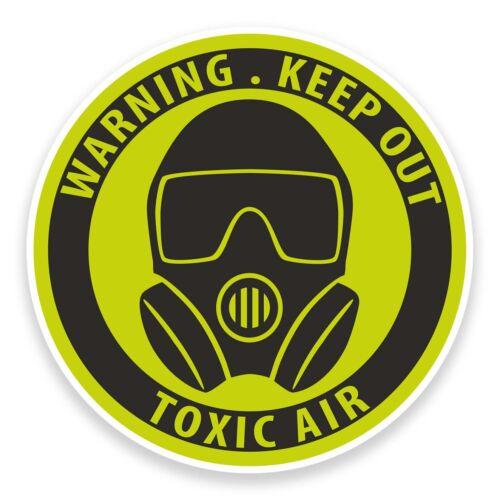 2 X 10 Cm advertencia tóxicos pegatina de vinilo portátil coche Patineta Zombie Alien # 9222