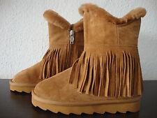 ASH YAO Shearling Boots Kids Stiefel Lammfell Mädchen Stiefelette Gr.32 NEU