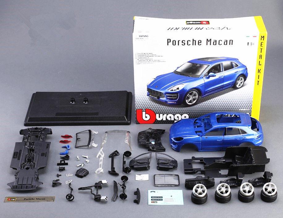 Bburago Bburago Bburago 1 24 Porsche Macan Assembly Racing Car Diecast MODEL KITS 69681c