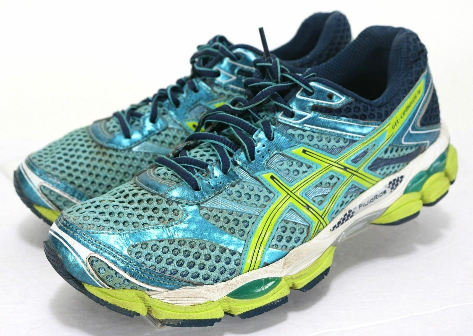 Asics Gel-Cumulus 16  Women's Running shoes Size 8.5 Aqua bluee Green