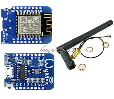 5Pcs For ESP8266 Wifi Module ESP-02 3Dbi Gain Antenna Antenna Extension Cable xg