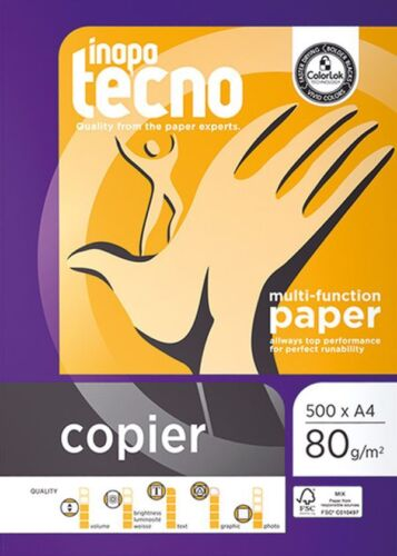 Kopierpapier A4 TECNO COPIER 2-fach GELOCHT 80g 2500 Blatt weiß Druckerpapier