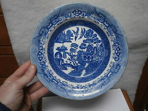 ANTIGUA-PLACA-PORCELANA-WILLOW-CARDIFF-SVANSEA-old-dish
