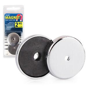 2 x rundmagnet starke magnete zum basteln mit chromblende 31 x 4 mm 2 kg ebay. Black Bedroom Furniture Sets. Home Design Ideas