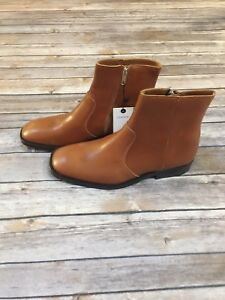 a0fa52e5643 Image is loading NWT-Zara-Man-Leather-Ankle-Boots-Light-Brown-