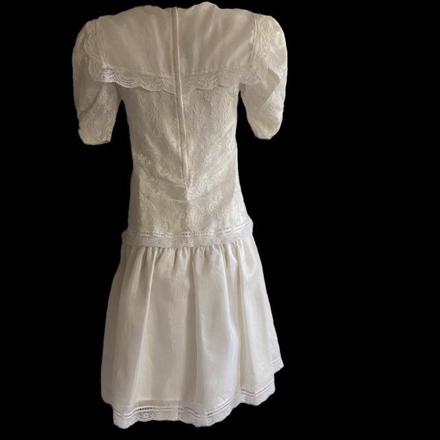 Gunne Sax Ivory Dress Girls Short Sleeve Jessica … - image 3