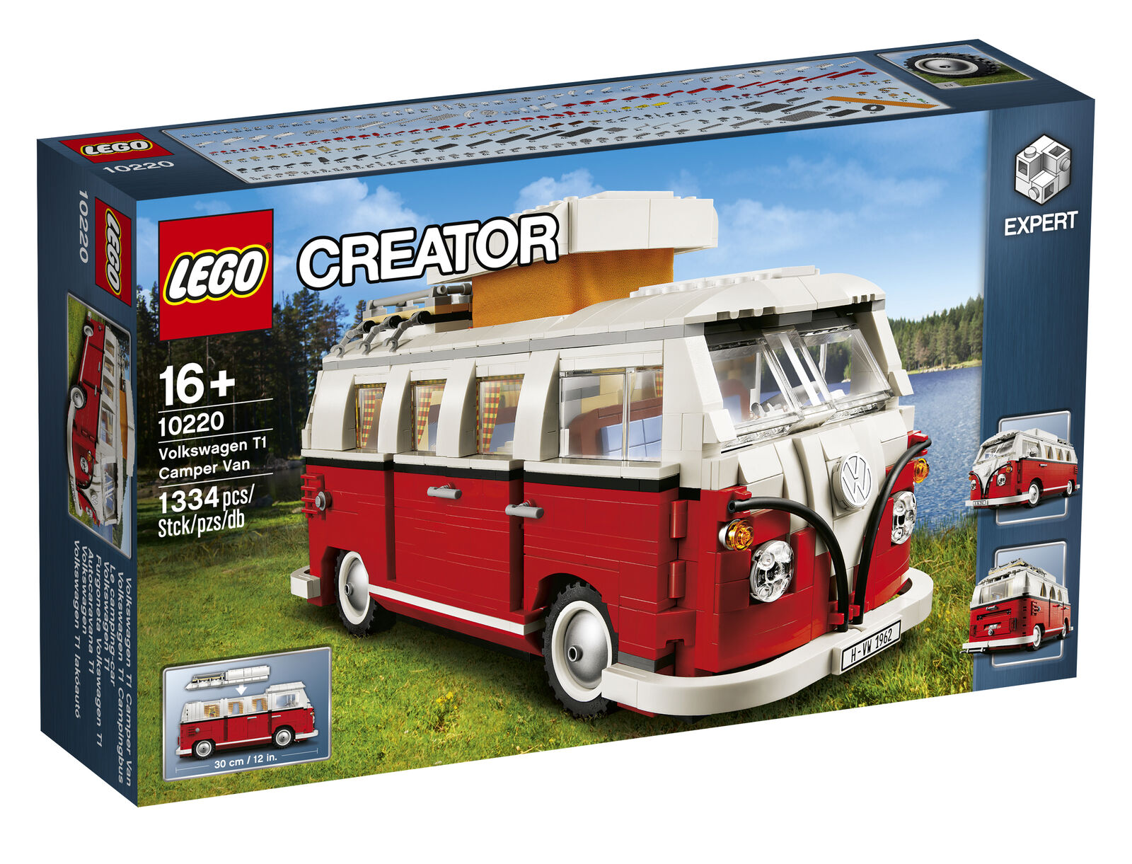 Original VW T1 Campingbus Camper Van Bully LEGO ® 10220 211099320 BL9 NEU + OVP