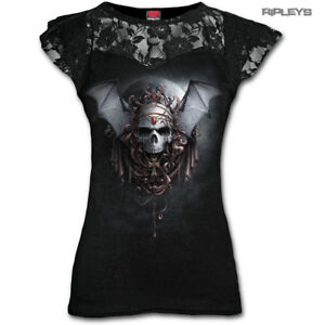 SPIRAL-DIRECT-Ladies-Black-Gothic-GOTH-NIGHTS-Skull-Top-Lace-Bat-All-Sizes