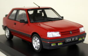 Norev-1-18-Scale-Peugeot-309-GTi-1987-Vallelunga-Red-Diecast-Model-Car