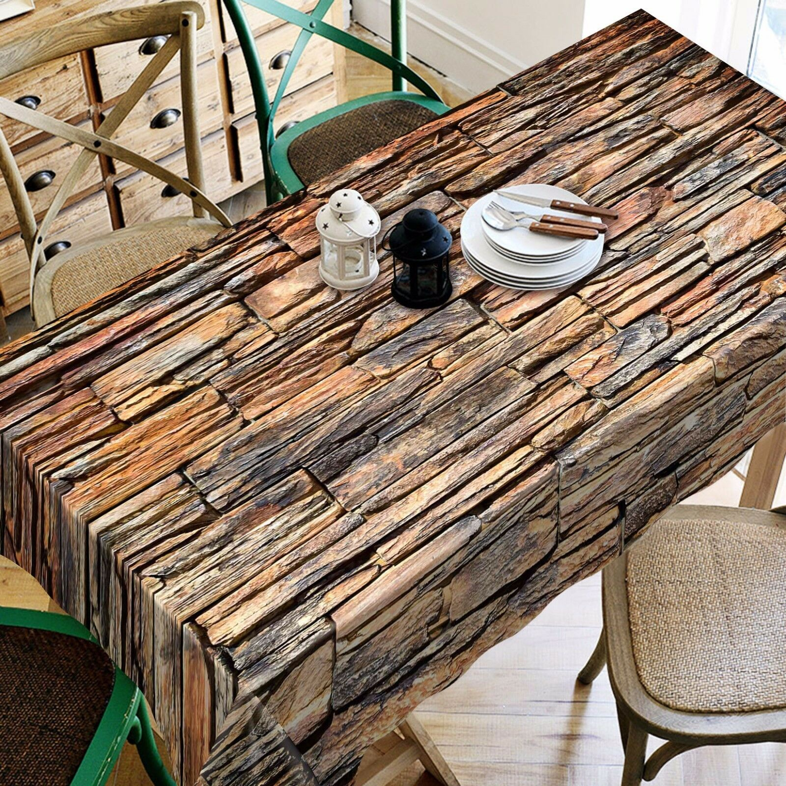 3D Wood 4492 Tablecloth Table Cover Cloth Birthday Party Event AJ WALLPAPER AU