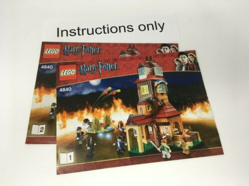 ONLY instructions books 1-2 Lego 4840 The Burrow Harry Potter; no bricks//parts