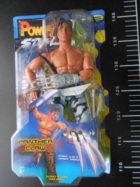 Max steel panther claw kraft action - figur nackt - version