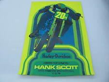 Original 1974 Harley Davidson Race Poster Syracuse Mile National Hank Scott