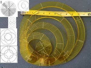 Image Is Loading Quilting Template Ruler 5mm Nesting Rings For Long