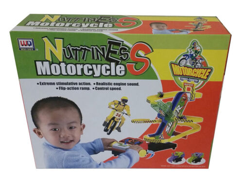 Enfants moto stunt vélo ensemble b//o nuttiness course piste sound uk stock
