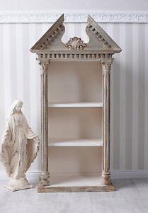 Gable-Shelf-Rack-Shabby-Chic-Wall-Antique-Hanging-Cabinet-Wardrobe