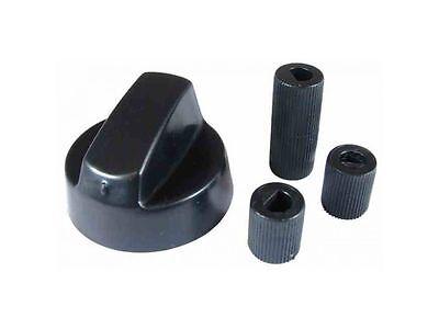 Universal Belling DeLonghi Kochfeld Ofen schwarz Kontrollknopf & Adapter