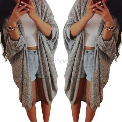 Autumn Winter Women Oversized Long Sleeve Sweater Coat Knitwear Cardigan Jacket