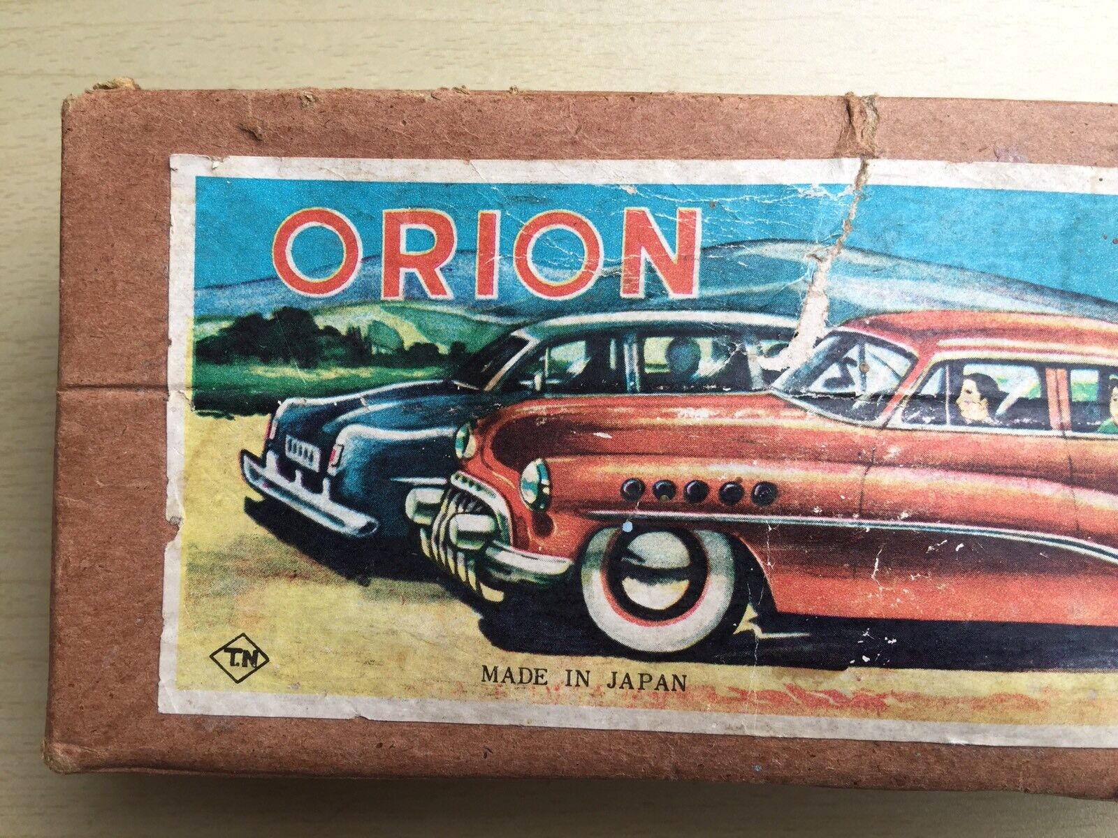 Vintage Tinplate TN Japan (ORION) Battery Operated Toy Car - Box Only