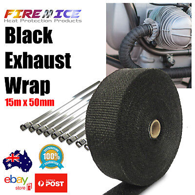 "2/"" 10m titanium motorcycle exhaust heat protect wrap Harley dyna crusier custom"