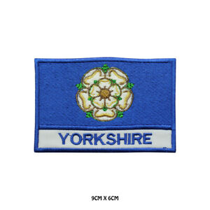 YORKSHIRE-County-Flag-With-Name-Embroidered-Patch-Iron-on-Sew-On-Badge