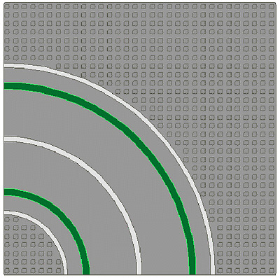 LEGO - X2 - Baseplate, Road 32 x 32 w/ Curve & Straight Road - Light Gray