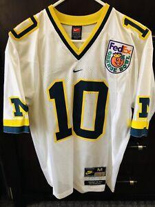 Details about TOM BRADY NIKE Michigan College Authentic Throwback Jersey 2000 ORANGE BOWL SZ M