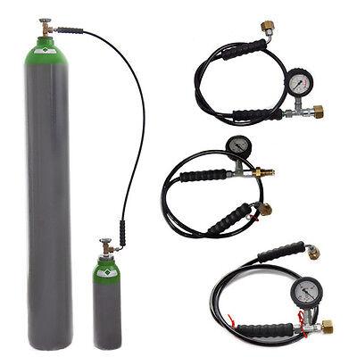 Umfüllschlauch f Gasflasche Argon Schutzgas Helium CO2 Stickstoff Umfüllbogen