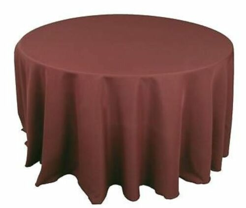 """14 LOT 120/"""" inch ROUND Tablecloth Polyester WEDDING 25 COLOR 5/' Ft table cover"""