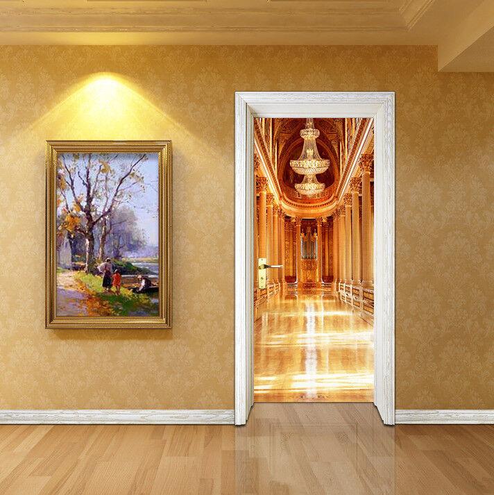 3D Korridor 47 Tür Mauer Wandgemälde Foto Wandaufkleber AJ WALL DE Lemon